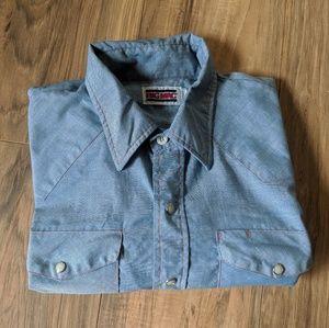 Vtg 70's Pearl Snap BIG MAC Western Shirt